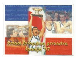 BASKETBALL YUGOSLAVIA EUROPEAN CHAMPIONS SPAIN 1997 PREDRAG DANILOVIC - Basketball