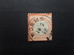 Deutsches Reich / Allemagne 1872  Aigle Petit  Ecusson,  Yvert No 8 A, 2 Kreuzer Vermillon Obl WORMS , TB Cote 380 Euros - Gebraucht