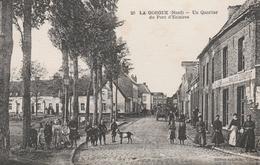 CPA:LA GORGUE ( 59) QUARTIER DU PONT D'ESTAIRES ANIMÉ...ÉCRITE - France