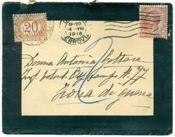 V8213 ITALIA 1918 REGNO Lettera Tariffa Ridotta Per Militari, Affrancata Con Leoni 10 C., Da Genova 4.8.18 Per Ospedale - 1900-44 Vittorio Emanuele III