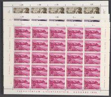 Liechtenstein 1960 Definitives 7v 7 Sheetlets ** Mnh (F7690) - Liechtenstein