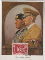 Carte-Maximum ALLEMAGNE IIIe Reich N° Yvert 687 (HITLER Et MUSSOLINI) Obl Sp Ill 1941 Europe Contre Bolchevisme RRR - Deutschland