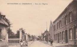 CPA:BOUSSIÈRES EN CAMBRÉSIS ( 59) RUE DE L'ÉGLISE...ÉCRITE - France