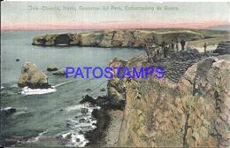 107778 PERU ISLA CHINCHA NORTE GUANERAS EMBARCADERO DE GUANO POSTAL POSTCARD - Peru