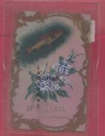 Carte Celluloid----1° Avril--peinte A La Main - Cartes Postales