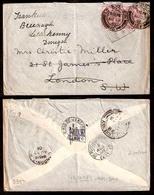 BRAZIL. 1901. GB. Stamps USED In BRAZIL. NAVY / RJ. 1d Pair - UK + Fwded VF Env. - Brazil