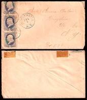 USA. C.1880's. Binnenwater / NY. Env Fkd 1c X 3 / Stars Cancel. - Unclassified