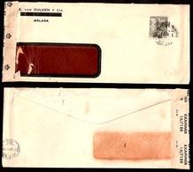GIBRALTAR. 1945. Malaga - Canarias. Fkd Env / Censored !A-7188. - Gibraltar