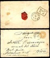 AUSTRIA. C.1867. Kufstein - Wien. 15 Kr Stat Env / Cds - 8 Pts. Via Salzburg. Internal Usage. - Austria