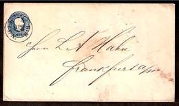 AUSTRIA. C.1860. Wien - Frankfurt. 15kr Stationary Env, 147 X 118 Mm. Small Size, NBH. Wien Cds (North Railway). VF + Sc - Austria