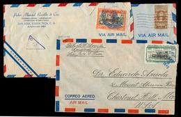 COSTA RICA. C.1950. 3 Covers. - Costa Rica