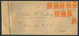 COSTA RICA. 1921. S. Jose - USA. Registr Multifkd. Espectacular. - Costa Rica
