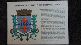 CPSM RAMBERVILLERS VOSGES ARMOIRIES BLASON ED RIGIDEX - Rambervillers