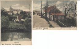Linkebeek - Ixelles (Bruxelles) Ancienne Gare Du Sygne Et Linkebeek 2 Petites Cartes - Ixelles - Elsene