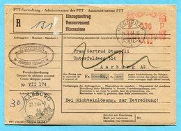 Einzugsauftrag Hochdorf 1964 - Absender: Schweiz. Milch-Gesellschaft AG - Suisse