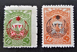 SURCHARGES 1915 - TIMBRES-POSTE DE 1905 - NEUFS * - YT 278/79 - 1858-1921 Osmanisches Reich