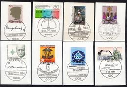 700/02 +07,19,20/22 Mit LUXUS-Ersttags-Stempeln BERLIN Auf Briefstücken,perfekt,siehe Scan  !!  26.1-42 - Berlin (West)