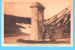 Col Du Somport (Oloron Sainte Marie-Vallée D'Aspe)-écrite En 1933-La Borne Frontière-France/Espagne Dans Les Pyrénées - Col Du Somport