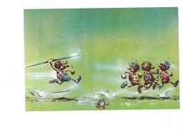 CP Collection Sports Loisirs Voyages - SPORTIF LANCÉ DE JAVELOT - MULTIPUB Illustration - Cartes Postales