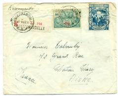 Congo Belge COB193 Et COB196 Sur Recommandé De Costermansville (Bukavu) Vers Château-Thiery (France  Aisne) - 1937 - Congo Belge