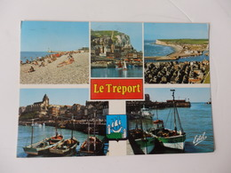 Le Tréport, La Plage, La Falaise Et Montée Au Calvaire Des Terrasses. - Le Treport