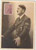 Carte-Maximum BOHEME Et MORAVIE N° Yvert 75 (HITLER) Obl Sp Ill 1er Jour 1942 RR - Bohemia & Moravia
