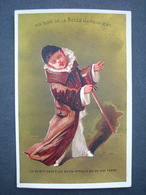 CHROMO  Lith Testu & Massin LA BELLE JARDINIERE CA NE M'ETONNE PAS QU'ON APPELE CA UN USE TERRE Victorian Trade Card - Autres