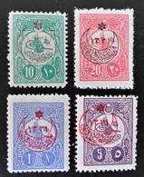 SURCHARGES 1915 - TIMBRES-POSTE 1909/11 - NEUFS * - YT 285 + 287 + 289 + 291 - 1858-1921 Ottoman Empire