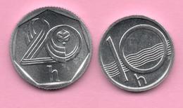 REPUBLICA CHECA - 10 + 20 HALERU 1993 SC - Tchéquie