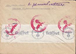 Germany Deutsches Reich Express DURCH EILBOTEN 1941? Cover Brief LUZERN Schweiz Switzerland 'OKW' Zensur Censor Label - Deutschland