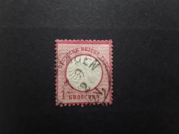 Deutsches Reich / Allemagne 1872  Aigle Petit  Ecusson,  Yvert No 4,  1 Groschen Rose Carmine  , Obl , TB - Gebraucht