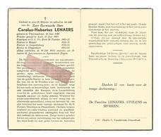 P 820. E.H. CAROLUS-HUBERTUS LENAERS - °VLIERMAALROOT 1880 /LUIK/ST-TRUIDEN/REPPEL/LEOPOLDSBURG/+DIEPENBEEK1953 - Images Religieuses