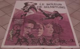 AFFICHE CINEMA ORIGINALE FILM LE BOXEUR DE SHANTUNG Chang CHEH David CHIANG CHING LI 1971 KUNG FU KARATE - Posters