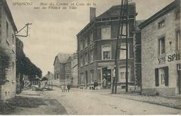 SPRIMONT : Rue Du Centre Et Coin De La Rue De L'Hotel De Ville - RARE CPA - Sprimont
