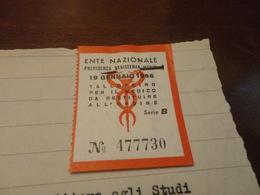 MARCA DA BOLLO PREVIDENZA ASSISTENZA MEDICI 1958 SERIE B-1960 - Revenue Stamps