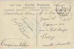 HOPITAL TEMPORAIRE  - LE MÉDECIN CHEF Avranches 17 Octobre 1914 Cachet Rond Bleu Adressée à Nancy - CP Mont-Saint-Michel - WW I
