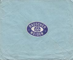 Germany Deutsches Reich PORZELLANFABRIK WEIDE Gebrüder Bauscher Vignette WEIDEN (Bayern) 1924 Cover Brief LUZERN Schweiz - Deutschland