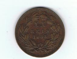 PORTUGAL»XX RÉIS»1883»KM527»BRONZE»VF CONDITION»CIRCULATED - Portugal