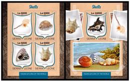 Sierra Leone 2016 Fauna Shells Klb+s/s MNH - Meereswelt
