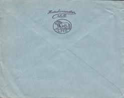 Germany Deutsches Reich PORZELLANFABRIK Lorenz HUTSCHENREUTHER, SELB (Bayern) 1924 Cover Brief LUZERN Schweiz Lion Löwe - Deutschland