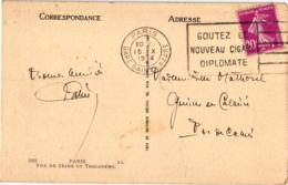 """PARIS VUE DE SEINE ET TROCADERO ,PENICHE """"CLARAMAY"""" REF 59093A - Houseboats"""