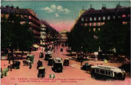 PARIS AVENUE DE L'OPERA ,ET PLACE DU THEATRE FRANCAIS ,EDITIONS -LIP ,COULEUR  REF 59094A - District 01