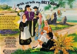 """Folklore Chanson """" Qu'elle Est Belle Ma Bretagne """" Paroles De Bardou Musique Ernest Dassier  Ed. Du Gabier TBE - Musique"""
