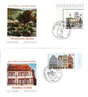 """BRD 2 Schmuck-FDC  """"Bilder Aus Deutschen Stätten (II)"""", Mi. 2356/57 ESSt 7.8.2003 BONN - FDC: Covers"""