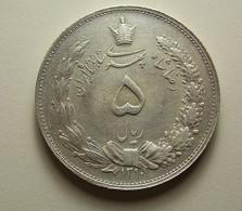 Iran 5 Rials 1931 Silver - Iran