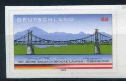 2003 Germania, Ponte Tra Laufen E Oberndorf Adesivo, Serie Completa Nuova - [7] Repubblica Federale