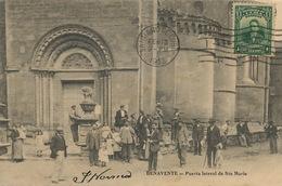 Benavente Puerta Lateral De Sta Maria Zamora  Circulada Desde Cuba - Spanien
