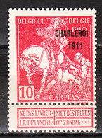 107*  Caritas Surchargée Charleroi 1911 - Bonne Valeur - MH* - LOOK!!!! - 1910-1911 Caritas