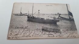 * Lillo-Fort Vertrek Van Der Toldienstboot   Animée Oblitéré En 1908 - Lille