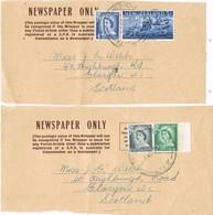 31951. Dos Frontales Newpapers MISSION BAY (New Zealand) 1959 - Nueva Zelanda